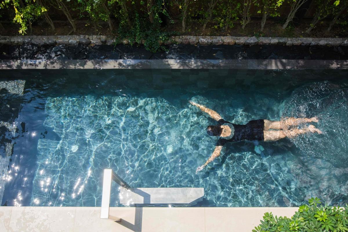 nage mini piscine